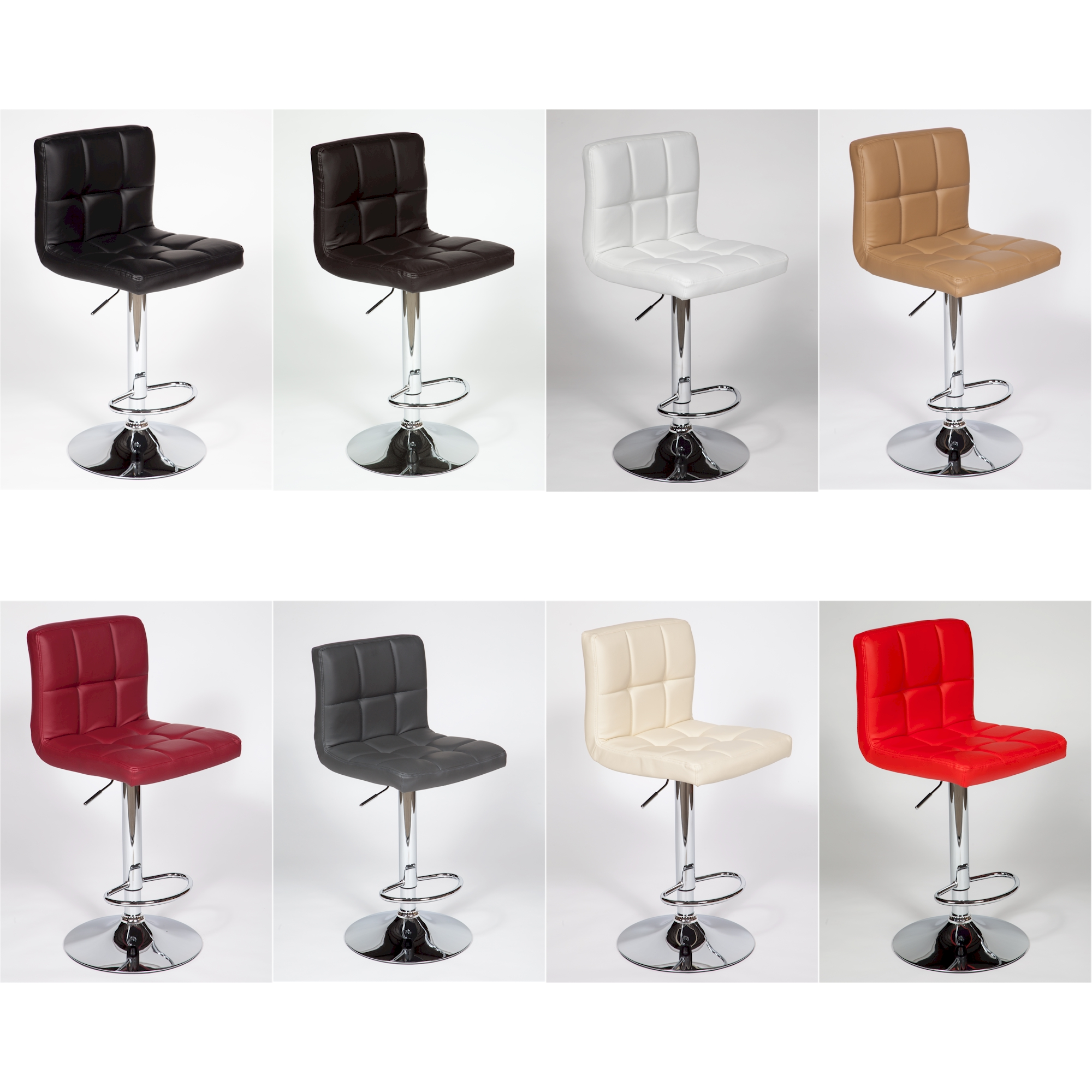 2 Modern Adjustable Quot Leather Quot Swivel Pub Style Bar Stools