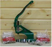 Grommet-Machine-Tool-with-3-Dies-amp-900-Grommets-NIB